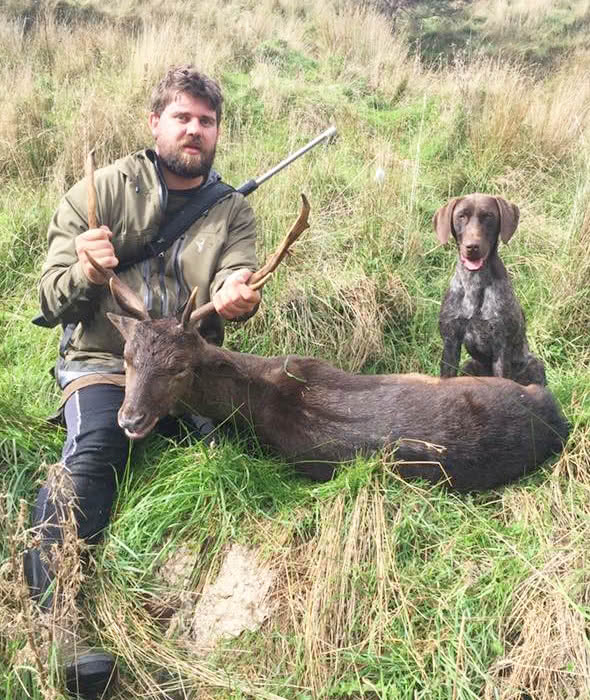 Very happy owner and dog - first deer.