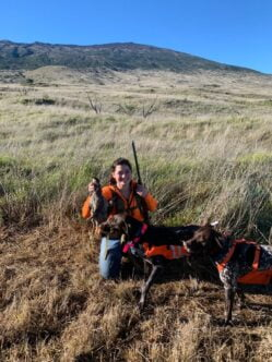 Here is Hina with Ahi, she be learning now, Puu Mali, North Eastern slope of Mauna Kea