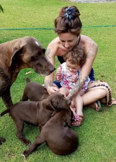Kids love pups
